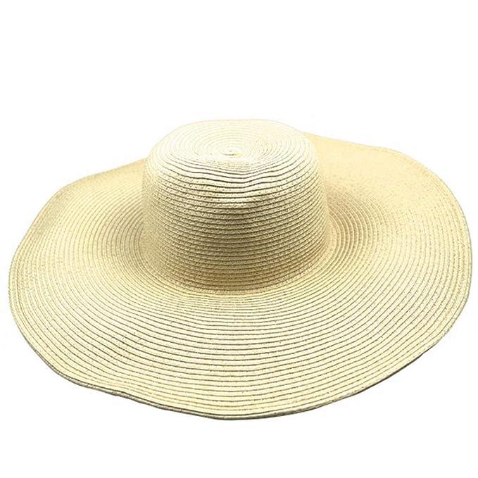 Women s Summer Sun Hats Outdoor Oversized Beach Fashion Straw Caps at  Amazon Women s Clothing store  479177c835df
