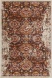 Well Woven LA-28-3 Laurent Sorrenti Vintage Antique Look Traditional x Doormat Accent Area Rug, 2'3'' x 3'11'', Brown