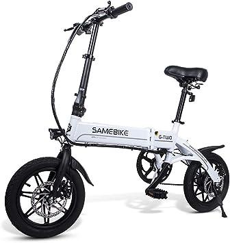 Lixada Bicicleta Eléctrica Plegable Motor 350W 48V con Rueda 26 ...
