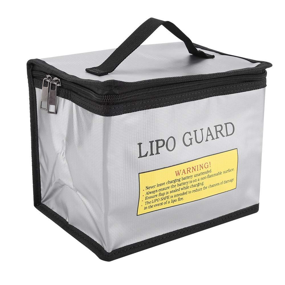 Lipo Safe Bag feuerfeste explosionsgesch/ützte Lipo Batterie Lagerung und Aufladen Schutzh/ülle Tasche langlebig tragbare Doppelrei/ßverschl/üsse