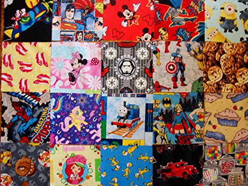 I SPY 5'' NOVELTY QUILT SQUARES, 100 FUSSY CUT NO DUPS by Art Textile