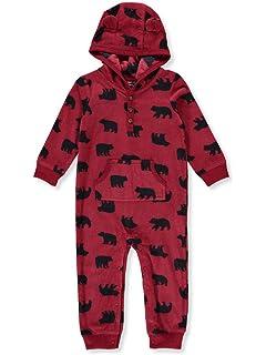 6c845e11d Carter's Baby Boys' One Piece Fleece Jumpsuit Red Bear, ...