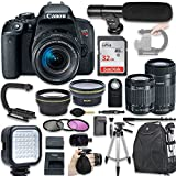 Canon EOS Rebel T7i DSLR Camera with EF-S 18-55mm f/4-5.6 IS STM Lens + Canon EF-S 55-250mm f/4-5.6 IS STM Lens + Wide Angle Lens + 2x Telephoto Lens + New Bundle