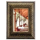 Lawrence Frames Bronze Basket Weave 4x6 Picture Frame