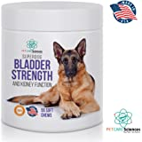 Best Premium Bladder Strength & Kidney Function Chews. Naturally Derived for Adult Dogs & Spayed Females to Help Maintain & Support Healthy Bladder Control, Dog Incontinence. Made in USA.55 Soft Chews