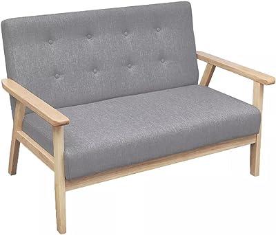 "Sofa Gray Fabric Sofa Sectional Sofa Set Total size: 44.7"" x 26.4"" x 28.9"" (W x D x H)"