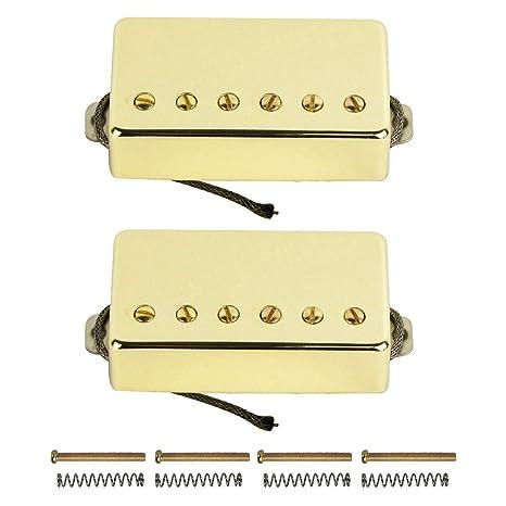 FLEOR Alnico 5 guitarra eléctrica Reemplazo de pastillas selladas para guitarra estilo LP
