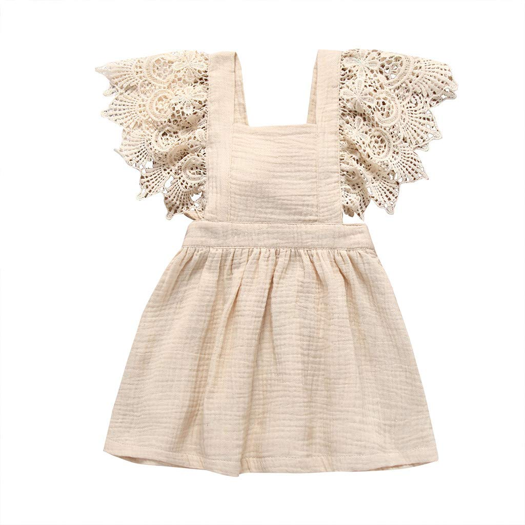 YRD TECH Sundress Sleeveless lace Dress with Straps Princess Dress Clothing for Baby