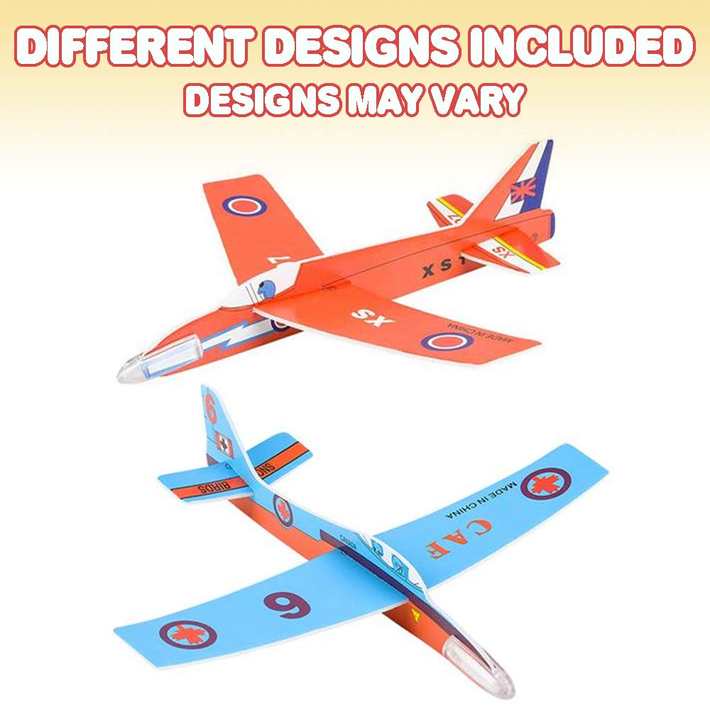Airplane Theme Party Activity Pack of 24 Great Party Favor//Summer Fun//Gift Idea for Boys and Girls | 7 Various Jet Design Schemes ArtCreativity Fighter Jets 3D Puzzle Set