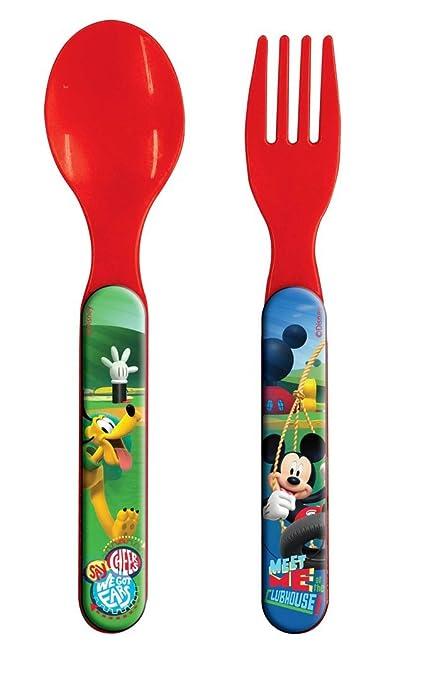 cubertería Disney Mickey Mouse set TENEDOR Y CUCHARA DE PLÁSTICO - 36290