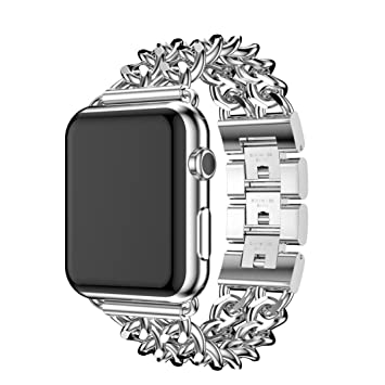 Strap For Iphone Watch Series 1 2 38MM BESSKY Sports Stainless Steel Band