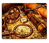 MSD Mousepad Vintage magnifying glass compass telescope - Best Reviews Guide