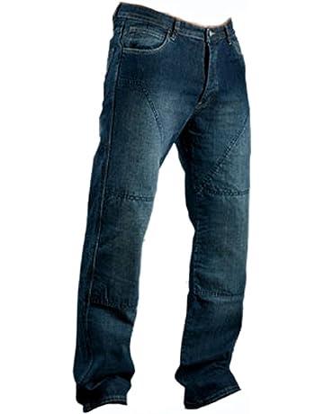 Juicy Trendz Herren Motorradrüstung Biker Motorrad Denim Hose Jeans Horn  Blau 9f1fd6b48e