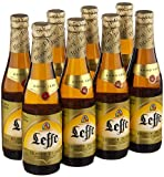 Original Belgisches Bier - Leffe Blond obergäriges Klosterbier aus Belgien, 8 Flaschen 330 ml.