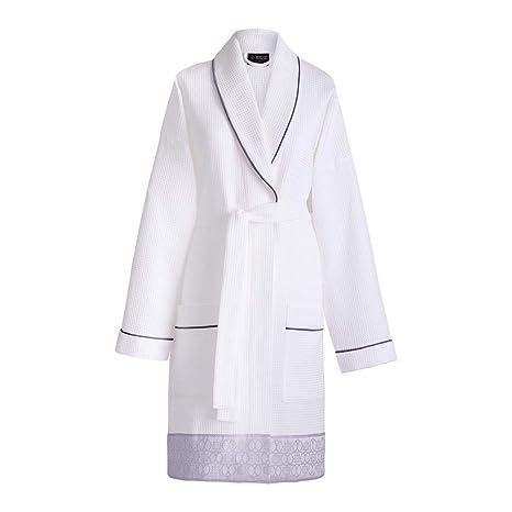 Le Jacquard Francais 22278 toalla de baño polygones algodón blanco 90 x 150 cm