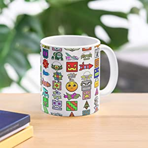 Games Dash Icons Geometry Fun Best 11 Ounce Ceramic Coffee Mug Gift