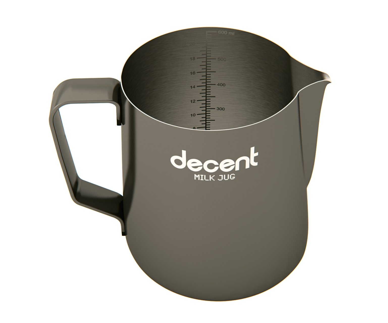Milk Jug with classic spout (600ml) by Decent Espresso