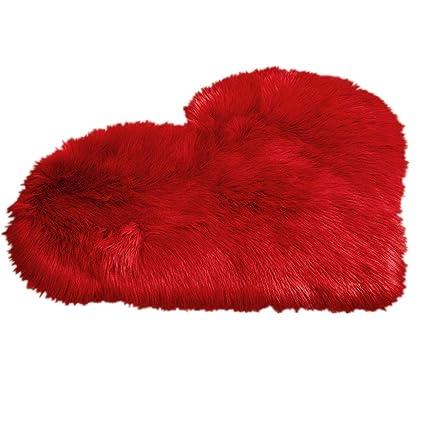 detailed look eb0c1 a9bd8 Tessuto casa morbida pelliccia sintetica Love cuore ...