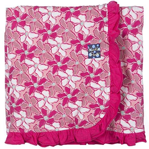 (KicKee Pants Print Ruffle Stroller Blanket, Desert Flower )