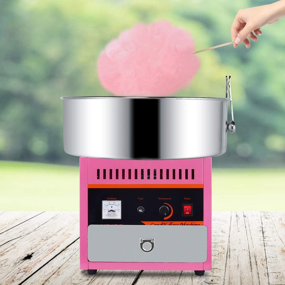 AUNMAS Máquina de algodón de azúcar automática de Acero Inoxidable eléctrica Mini Bricolaje máquina de Dulces de azúcar para la Cocina casera(1#): Amazon.es