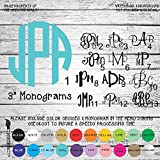 "3"" Monogram Letters Vinyl Die Cut Decal Sticker for Car Laptop etc."