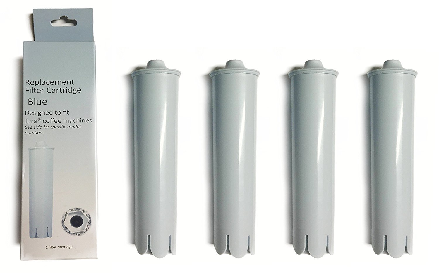 Water Filter Replacement Jura Clearyl Claris Blue 71445 Compatible For Coffee Maker, 4 Filters