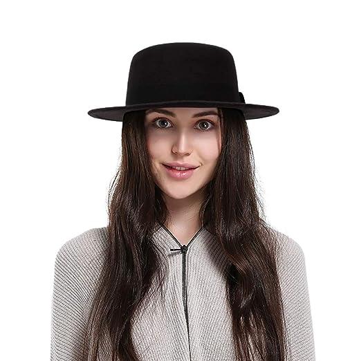 6a568d68b85 Black Wool Wide Brim Porkpie Fedora Hat Party Hats Black Fedora Hat Costume  Accessory
