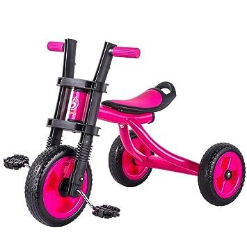 Minmin-chezi Triciclo para niños Bebé Empujar con la Mano Bicicleta Bicicleta de Tres Ruedas para niños 1-5 años de Edad Azul (Color : Red): Amazon.es: ...