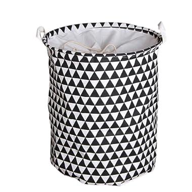 Laundry Basket Cotton Linen Nursery Hamper Waterproof Collapsible Storage Cases Organizer for Bedroom, Clothes, Toys, Bathrooms, Nursery Dorm or Closet