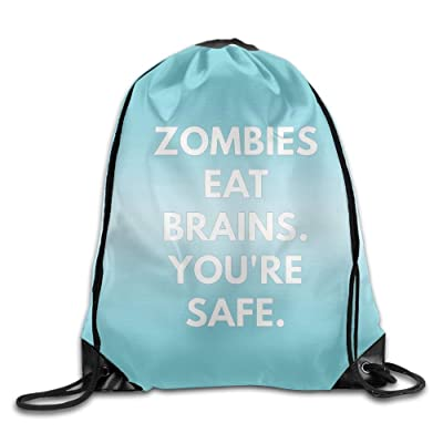 Ahjiutodfkol Unisex Zombies Eat Brains Bunch Bag