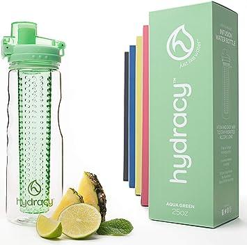Hydracy Botella de Agua con Filtro infusor para Fruta 750 ML con Funda Aislante antitranspirante -