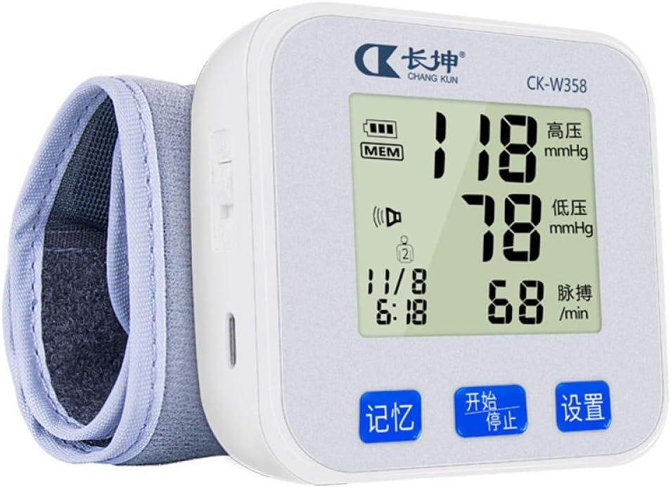 HJUNH Instrumento electrónico de Alta precisión Tipo de muñeca esfigmomanómetro Tabla de medición Instrumento Tipo de muñeca Anciano médico Detección de Pulso Arrítmico