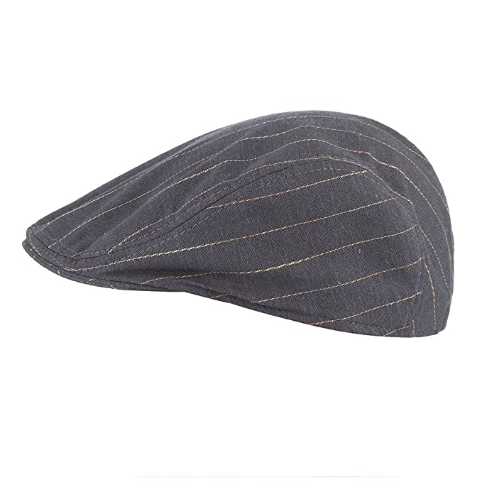 Gemvie Women Men Peaked Stripe Newsboy Cap Ivy Gatsby Hat Black at Amazon Mens Clothing store: