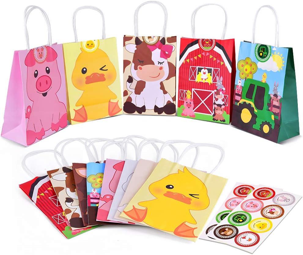 Amazon.com: Bolsas de regalo para fiesta de animales de ...