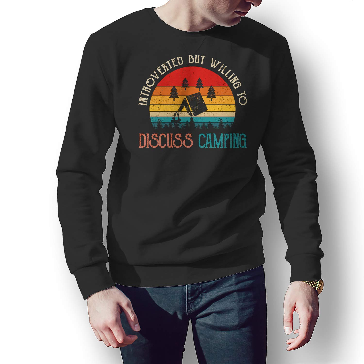 Zatelo Introverted BUT Willing to Discuss Camping T-Shirt
