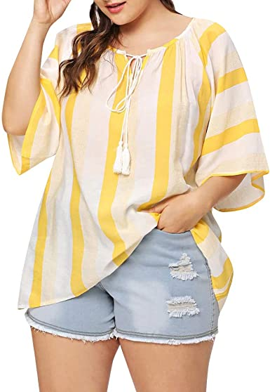 Hokoaidel Camisetas para Mujer, Verano Camiseta Tamaño ...