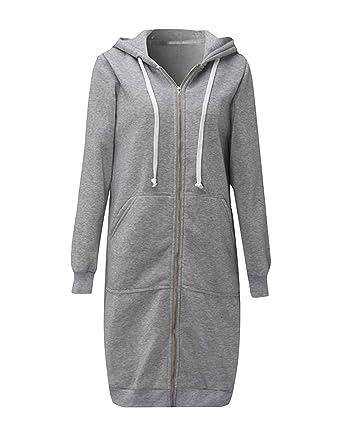 Amazon.com: ray-jrmall mujeres sudadera con capucha y cierre ...