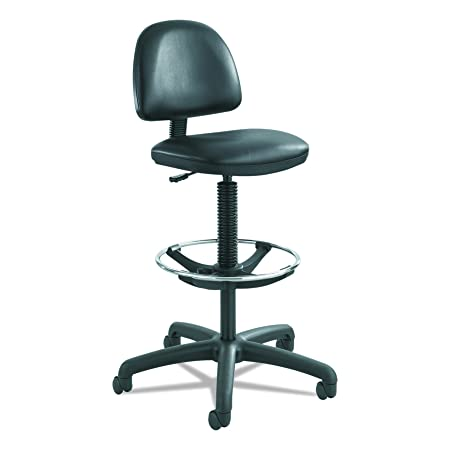 Safco Products 3406BL 3406BV Task Chair, Black Vinyl