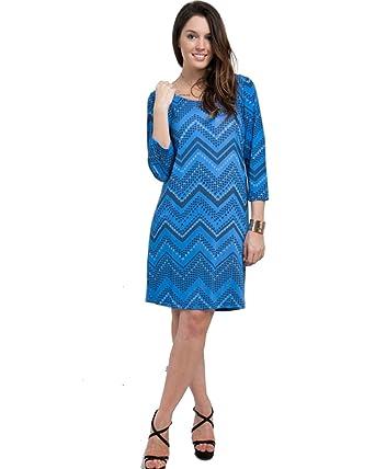 Mod Plus Womens Chevron Print Plus Size Dress Blue Xld004 At