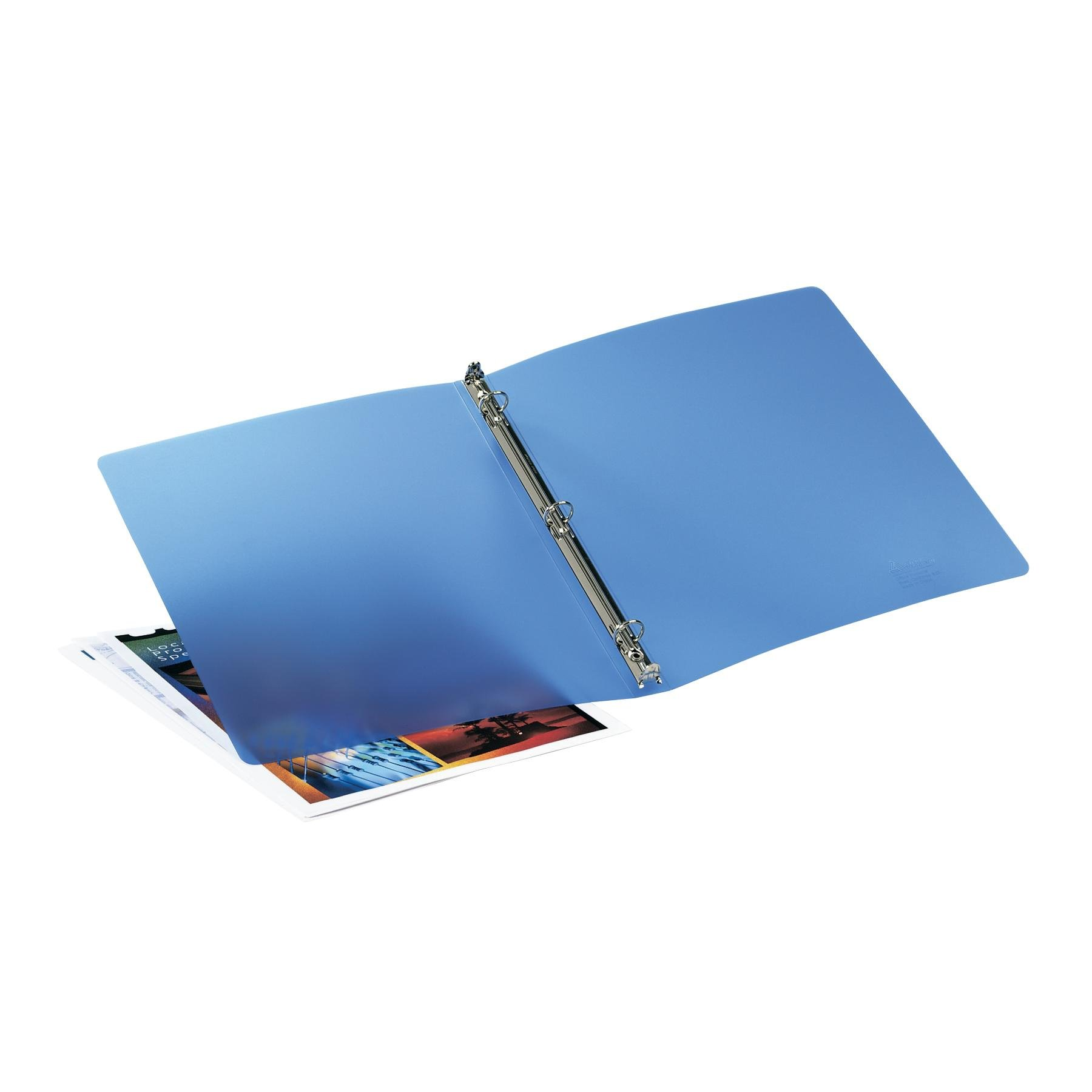 Avery Translucent Flexible Binder with 0.5-Inch Round Ring, Blue (15721)