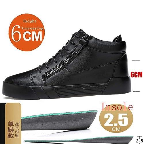 Running Shoes Botines de Moda Alto Superior Taller Plantilla de Aumento de Altura extraíble (Opcional