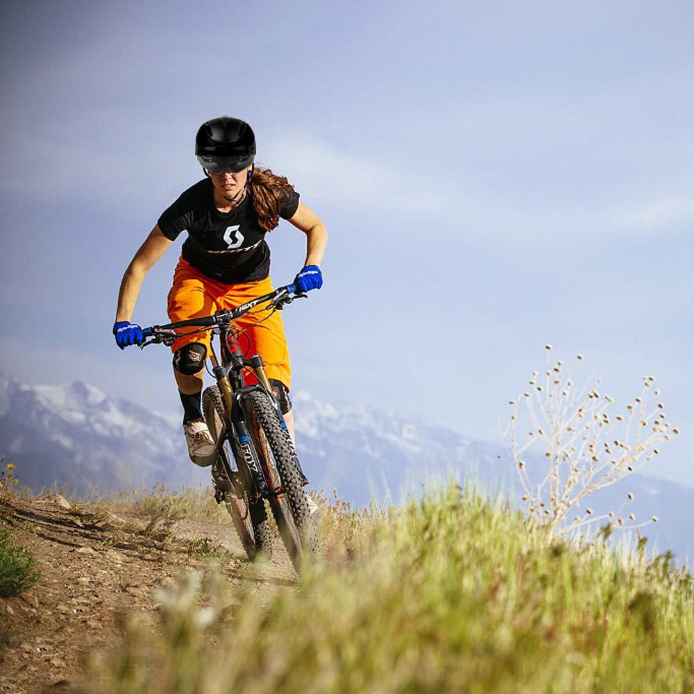 Protecci/ón de Seguridad Ajustable Casco de Bicicleta Ligera para Montar en Bicicleta Casco de Bicicleta BMX Scooter Skate Mountain Road KINGLEAD Casco Bicicleta con Visera