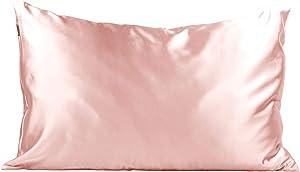 Kitsch 100% Satin Pillowcase, Vegan Silk Pillowcase, Standard (Blush)