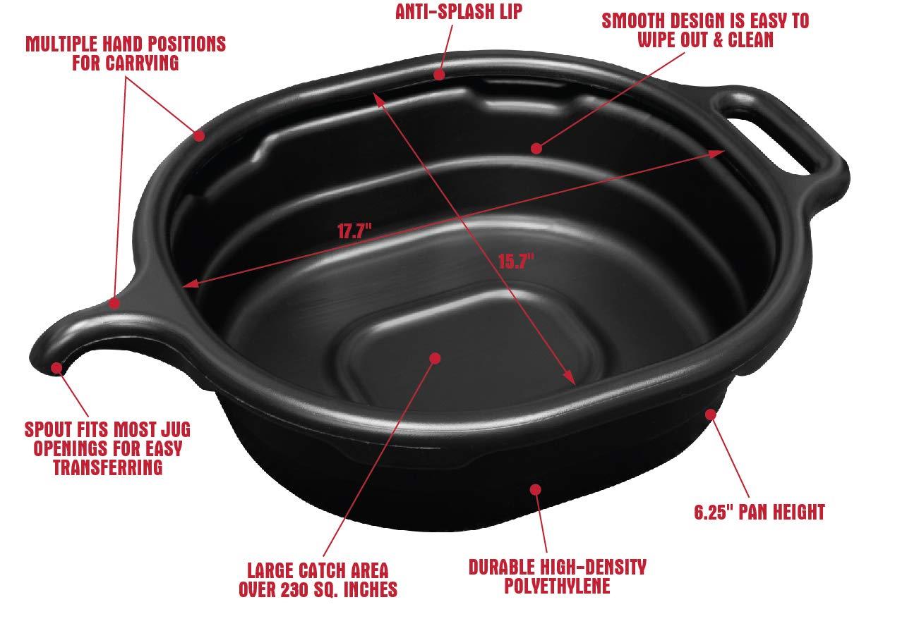 Black Lisle 17972 4.5 Gallon Oval Drain Pan