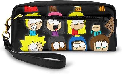 South Park - Estuche para lápices de maquillaje para mujer, bolsa de almacenamiento portátil, color negro talla única: Amazon.es: Oficina y papelería
