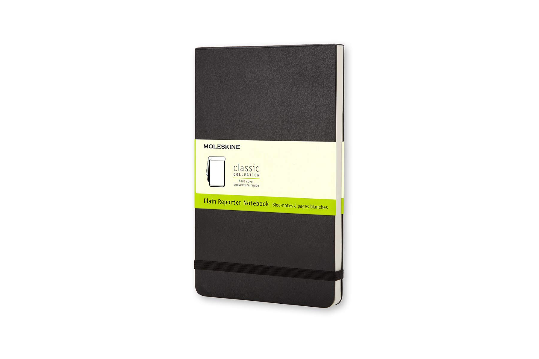 Moleskine Classic Hard Cover Reporter Notebook, Plain, Large