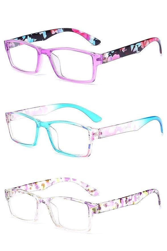 Inlefen Occhiali da lettura unisex Occhiali da lettura rettangolari in plastica per uomo e donna x4TPYi7