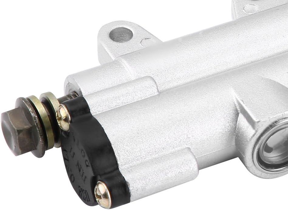 Kimiss Hintere Fußbremse Hydraulische Hauptzylinderpumpe Für Motorrad Atv Dirt Bike Weiß Auto