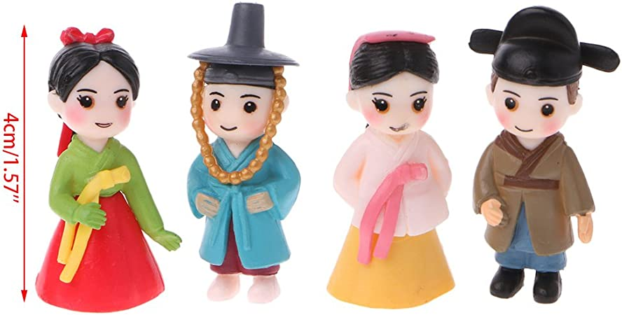1//5pcs Cute Miniature Girl Figurine Dollhouse Home Garden Ornament Yard Decor