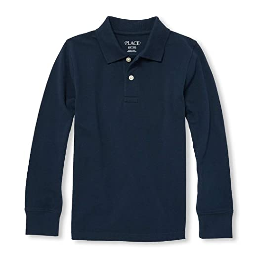 Amazon Com The Children S Place Boys Long Sleeve Uniform Polo